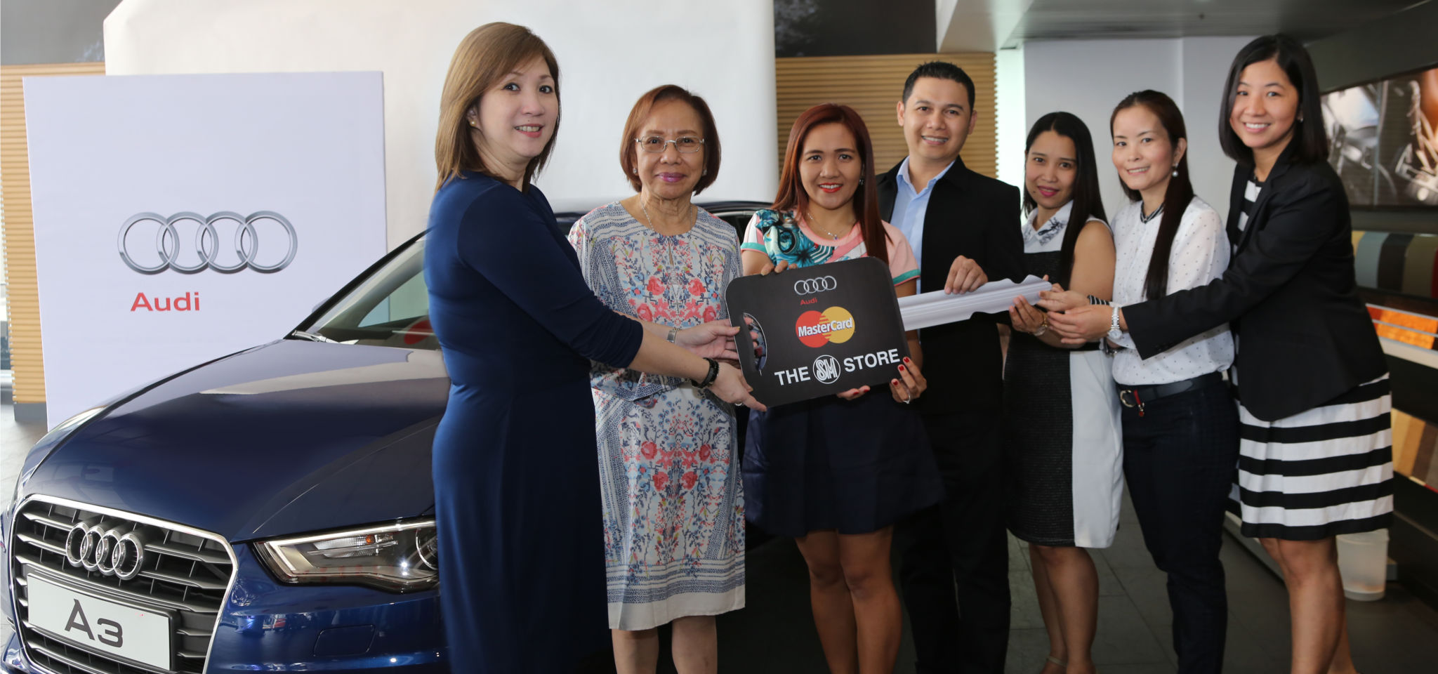 The SM Store and Mastercard Promotion Audi Car Winners