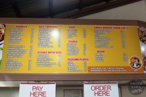 liam's menu