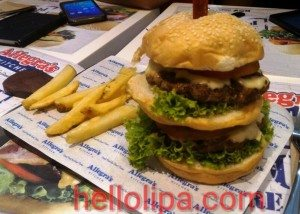 Allegra's Double Decker Burger