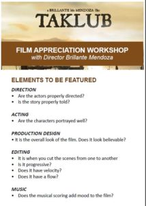 Film Appreciation Workshop