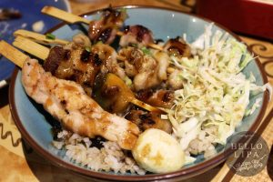 Skewers Rice Bowl