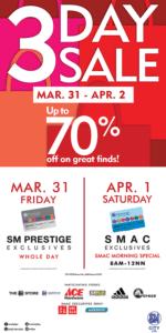 SMAC sale schedule