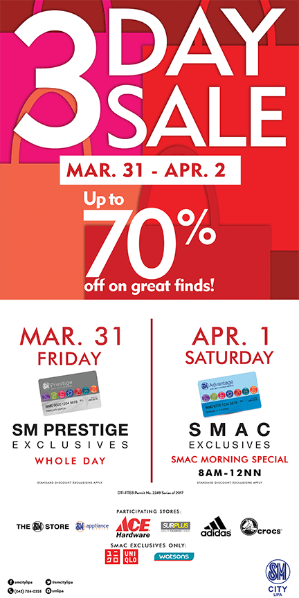 10 Useful Shopping Tips for SM Lipa's 3-day Sale