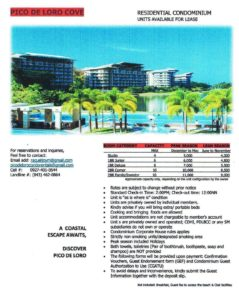 Pico De Loro room rates