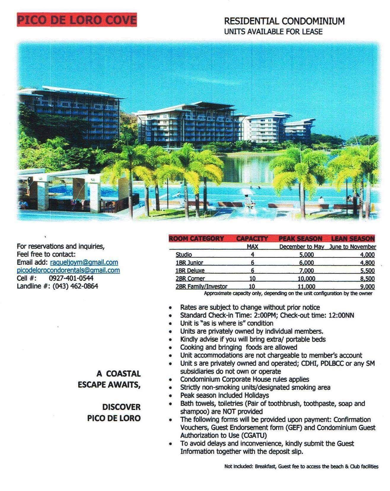 Pico De Loro Beach Club Room Rates