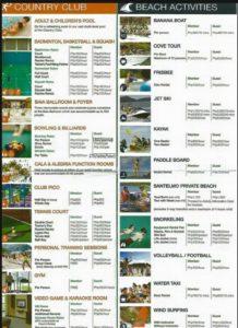 Pico De Loro activities