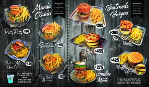 Burger Mania Menu