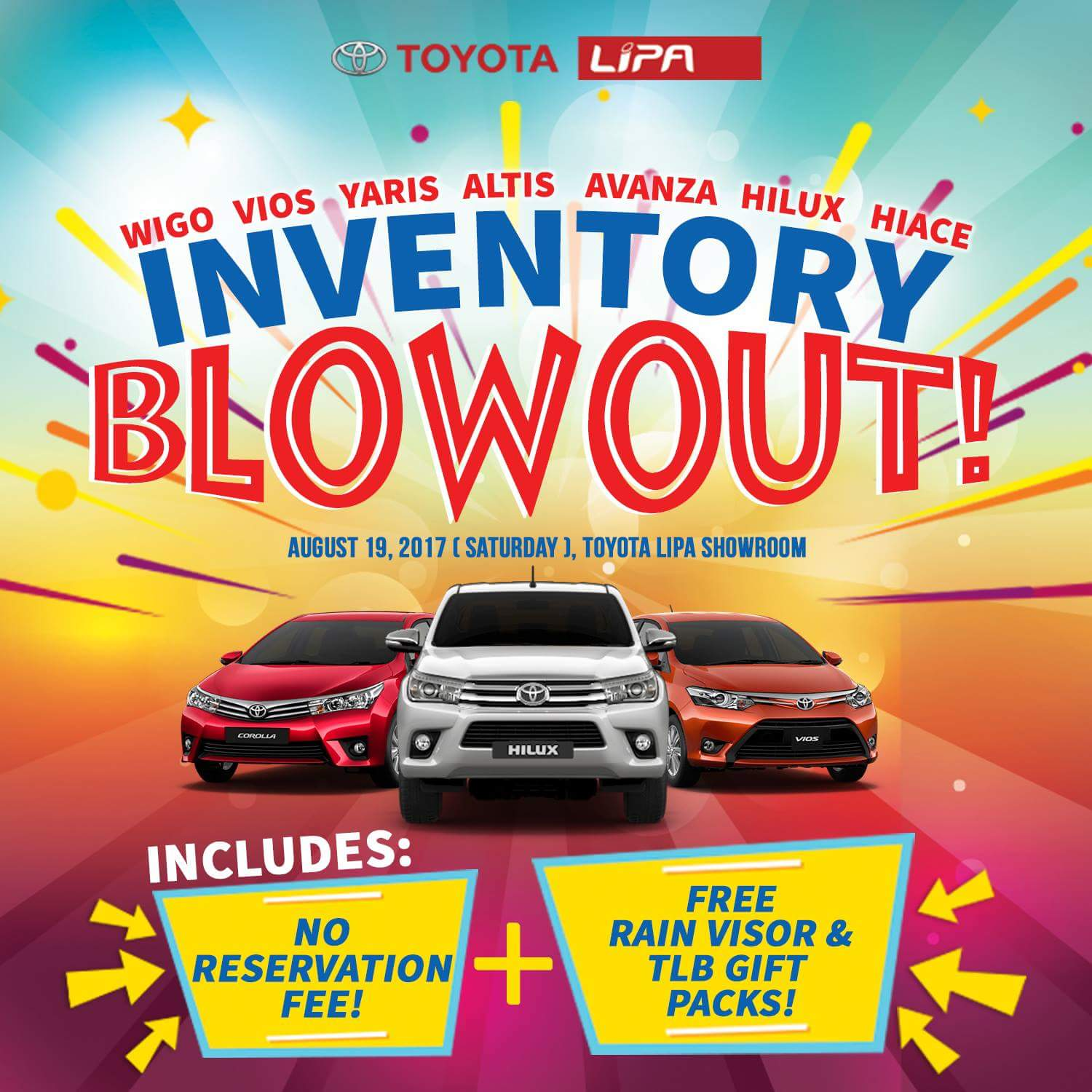 Turn that Dream Toyota into Reality this Saturday at the Toyota Lipa Inventory Blowout
