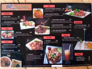Go Thai Bistro Menu