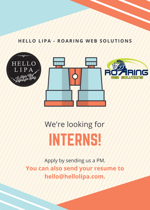 We're Accepting OJTs and Interns!