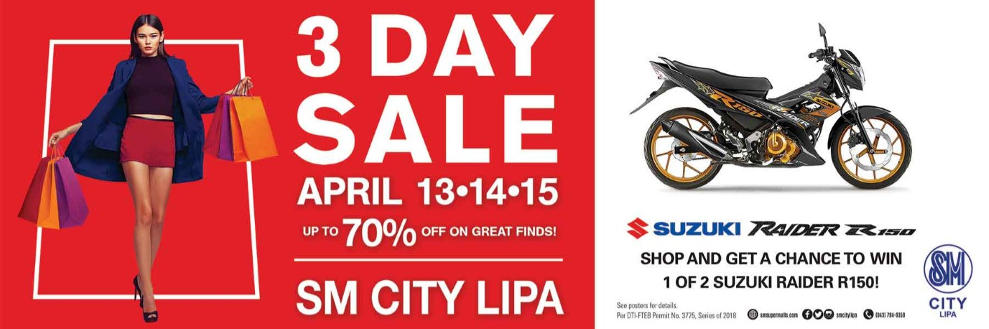 Four Reasons to Go Shopping this Coming 3-day Sale at SM City Lipa