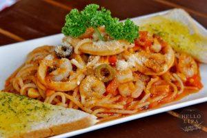 Seafood Pasta in Marinara Sauce