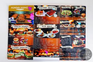 Hungry Hippo Menu