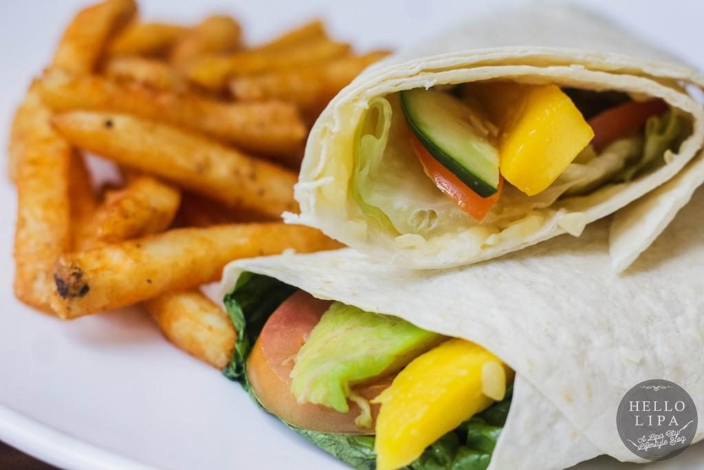 Cheesy Vegetable Wrap