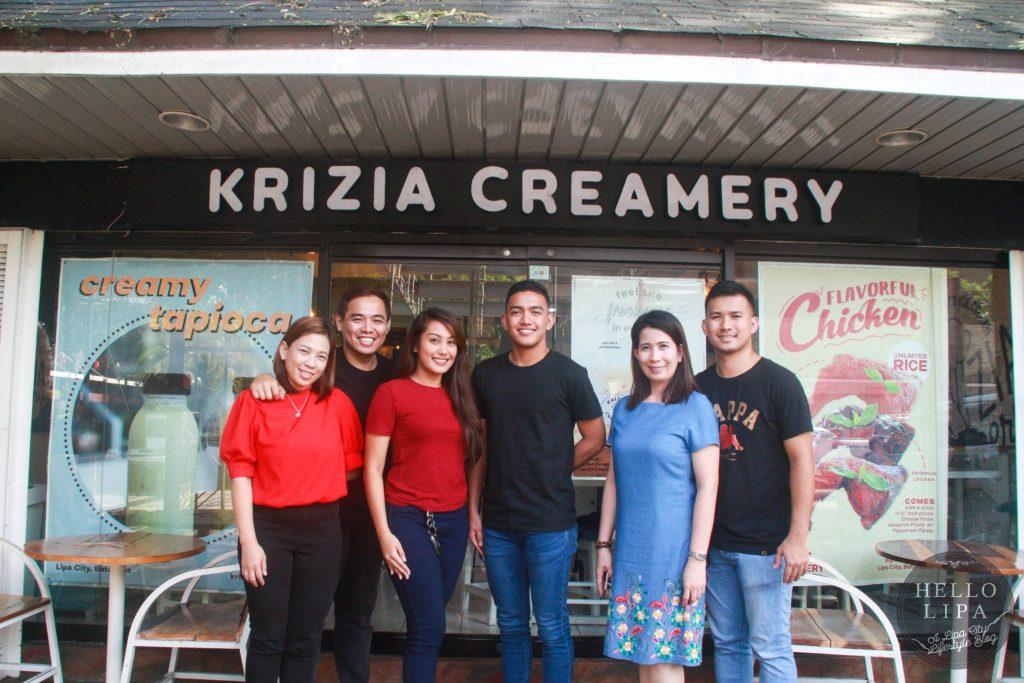 krizia creamery in lipa city